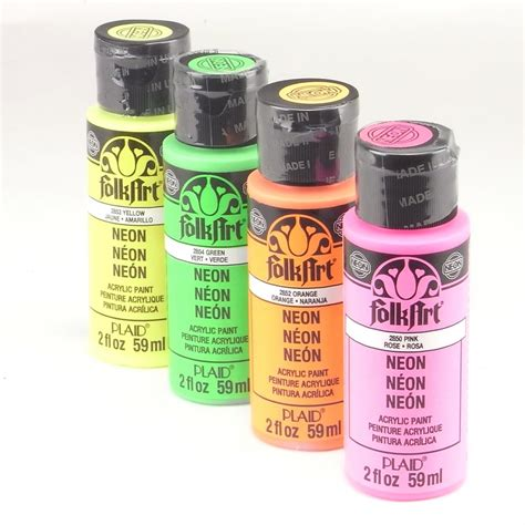 plaid folk acrylic paint uk folkart acrylic paint bottle neon bundle plaid from
