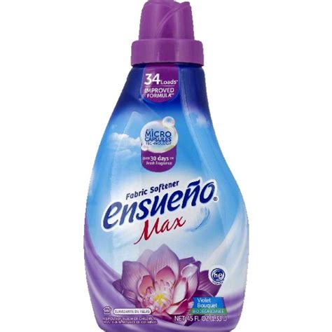 Ensueno Fabric Softener, Violet Bouquet, Max   45 oz (Pack of 6)