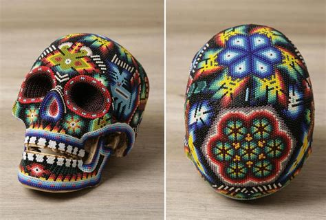 huichol beaded skulls our exquisite corpse skulls by catherine martin delood