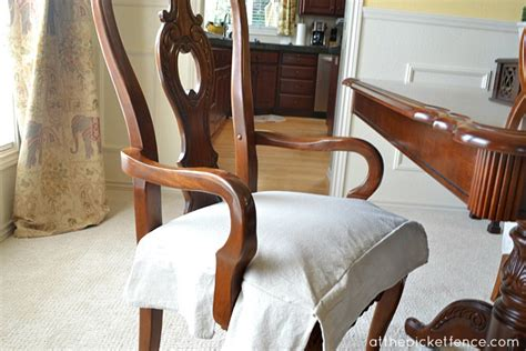 dining room chair cushions with skirts drop cloth chair skirts at the picket fence