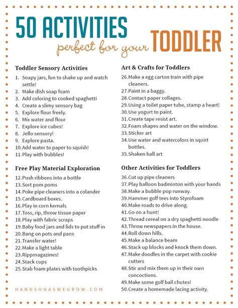 and activities 50 activities for toddlers from on as we grow