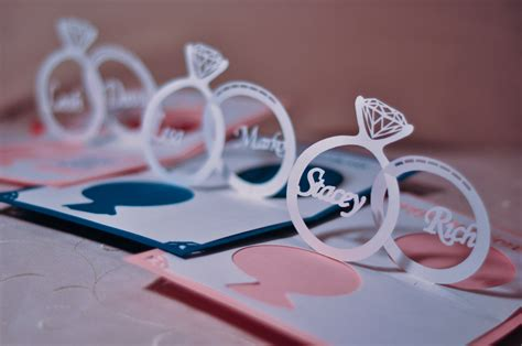 how to make a wedding card wedding invitation pop up card linked rings tutorial