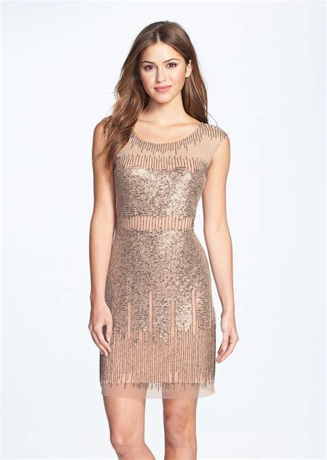 illusion yoke beaded sheath dress papell illusion yoke beaded sheath dress