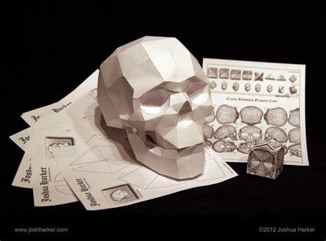 paper craft skull papercraft skull by joshua harker la calaca