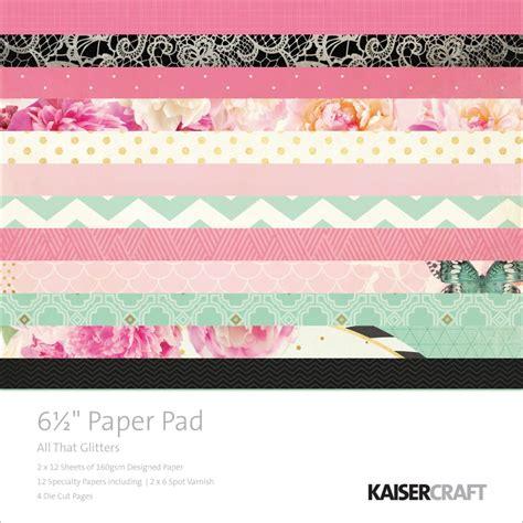 kaiser craft paper kaisercraft all that glitters collection 6 5 quot x6 5