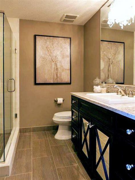Neutral Bathroom Ideas by Neutral Bathroom With Black Vanity Hgtv