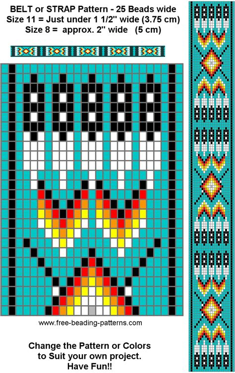 beading designs traditional pattern for a beaded belt turquoise loom