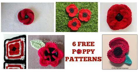 poppy knitting pattern free 6 free poppy patterns happily hooked