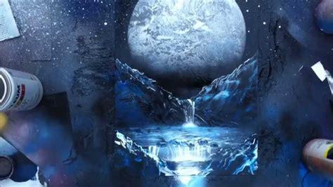 The Moon Spray Paint