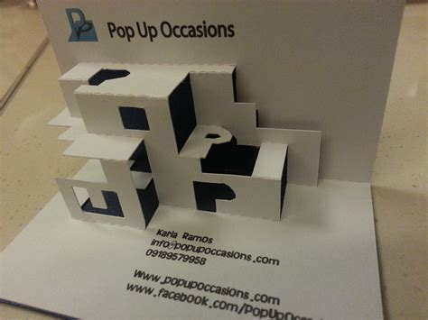 how to make an awesome pop up card how cool is pop up occasions pop up business card pop