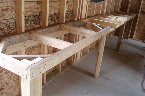 Bench Design Garage Workbench With Drawers Plans