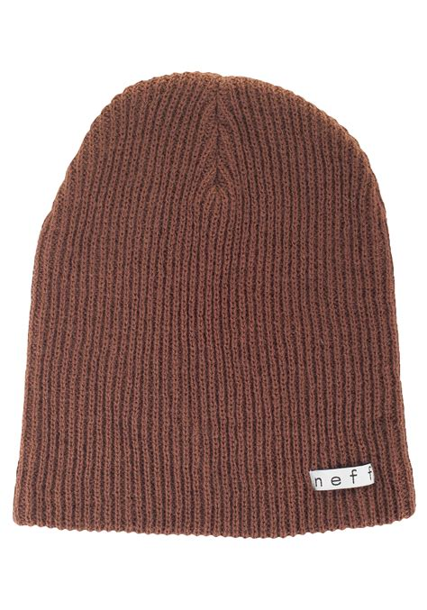 brown knit neff daily brown knit hat