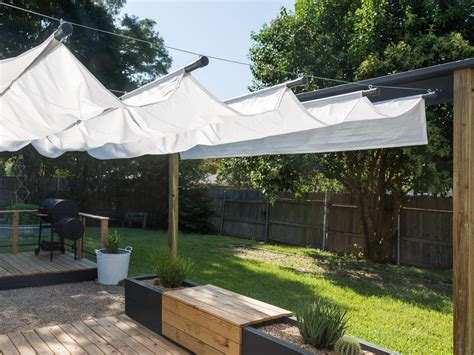Backyard Canopy by How To Build An Outdoor Canopy Hgtv