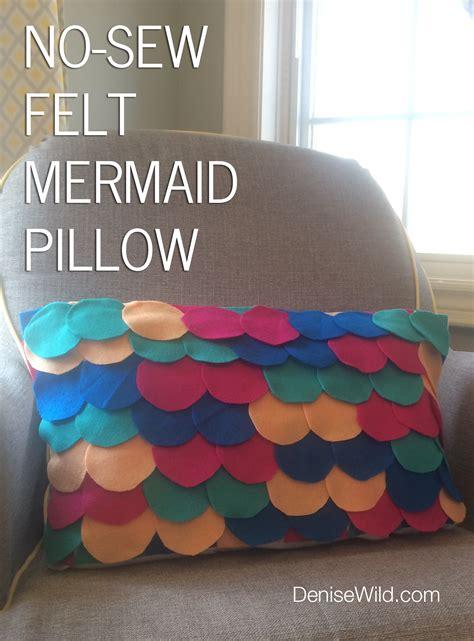 felt crafts for no sew no sew felt mermaid pillow diy