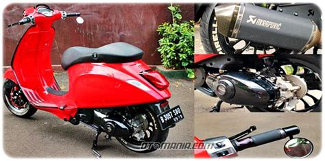 Modif Vespa Sprint Klasik by Modifikasi Vespa Racing Look Anti Mainstream Dengan Vespa