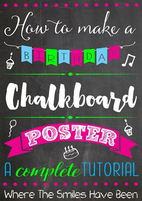 diy chalkboard poster 25 best ideas about make your own poster on