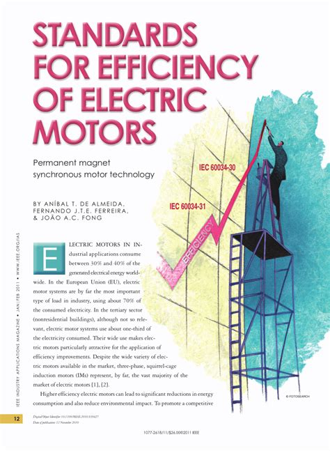 Electric Motor Standards by Pdf Standards For Efficiency Of Electric Motors