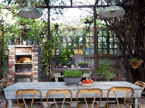 outdoor kitchen ideas for small spaces outdoor living spaces ideas for outdoor rooms hgtv