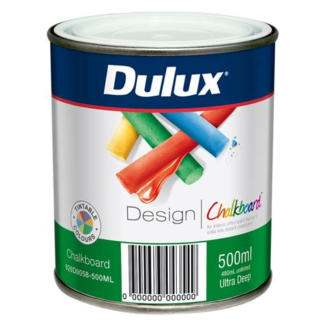 chalk paint bunnings dulux 500ml design tintable chalkboard paint i n 1370079