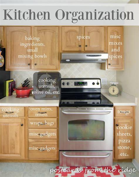 kitchen cabinet organization tips kitchen organization tips postcards from the ridge