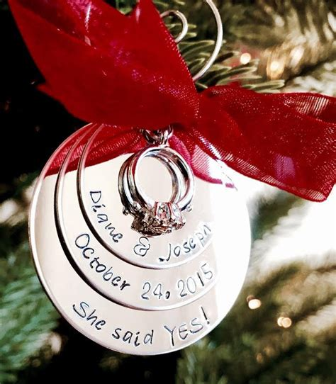 she said yes ornament sale personalized ornament she said yes