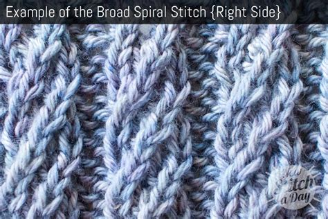 how to rib knit broad spiral stitch knitting stitches new stitch a day
