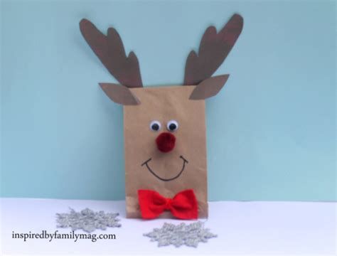 reindeer paper bag craft a not a professional nor a perfectionist