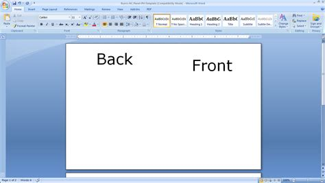 make note cards in word how to print your own s day cards burris