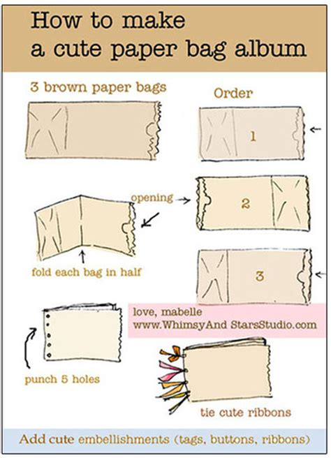 how to make out of paper how to make a mini album for out of paper bags