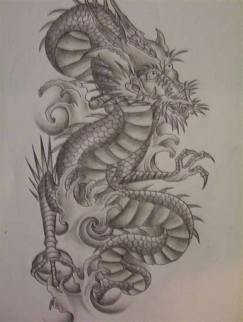 dragon tattoo design by tattoosuzette on deviantart