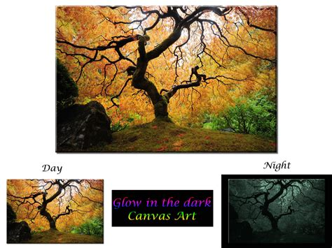 glow in the painting tree glow in the canvas wall maple tree ready to hang