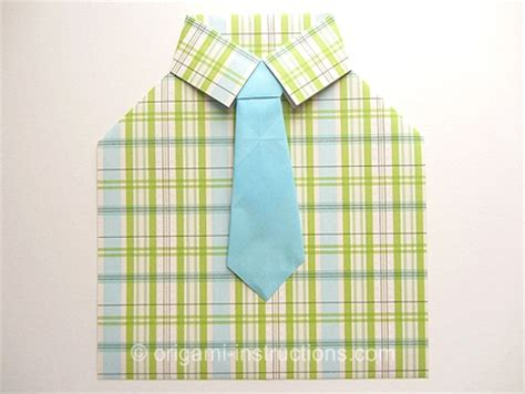 how to make a paper shirt and tie card origami tie folding