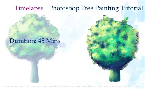 tree photoshop tutorial photoshop tree painting tutorial brushes by saucerqueen on