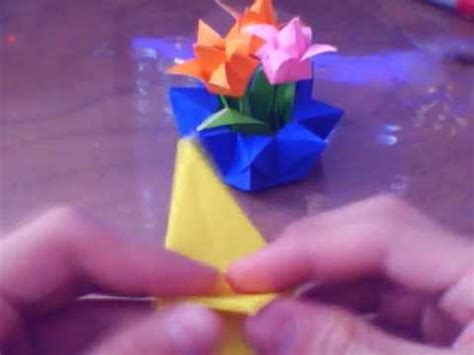 origami flower pot how to make an origami flower pot