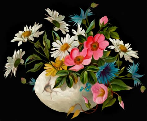 flower painting pictures flowers digital painting by chamirra on deviantart