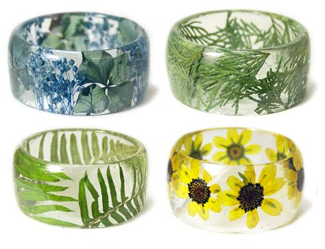 jewelry resin new handmade resin bracelets embedded with flowers and