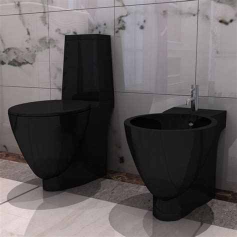Toilet En Bidet by Vidaxl Co Uk Black Ceramic Toilet Bidet Set