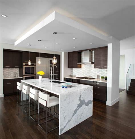 houzz kitchens with islands kitchen waterfall island modern kitchen vancouver