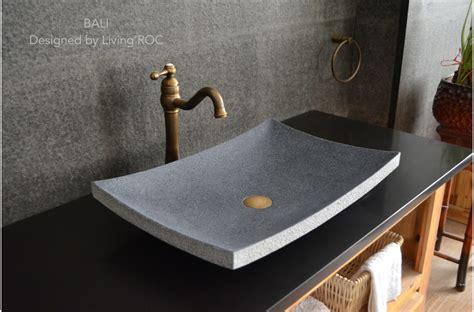 "24""x16"" Granite Stone Bathroom Vessel Sink Design   BALI"