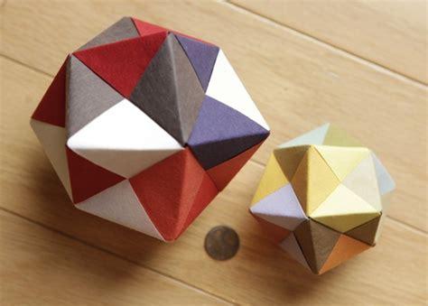 modular origami octahedron modular origami icosahedron octahedron cube 171 math craft