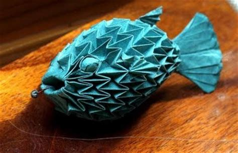 origami puffer fish cool origami creations pix o plenty
