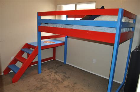 theme bunk bed white superman theme loft bunk bed diy projects
