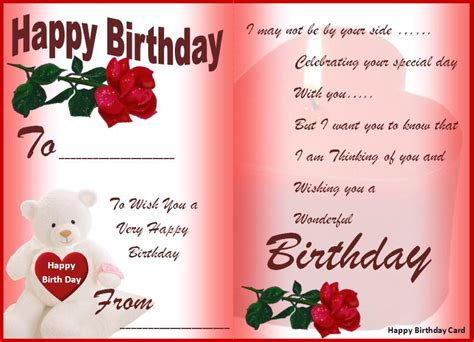 happy birthday card happy birthday cards best word templates