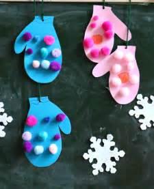 mitten crafts for pom pom mittens craft mittens winter and craft