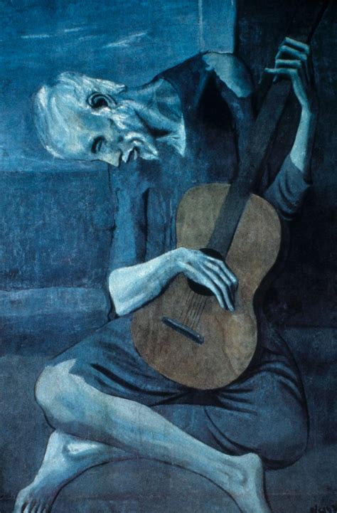 picasso paintings blue period guitar design journal