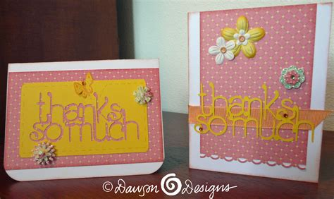 card ideas with cricut cricut thank you card ideas