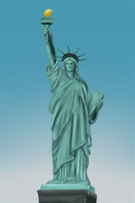 the gallery for gt statue of liberty drawings