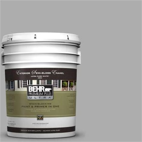 home depot paint for trim behr premium plus ultra 5 gal n520 3 flannel gray semi