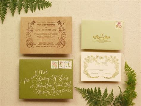 rubber st wedding invitations diy tutorial rubber st wood veneer invitation suite