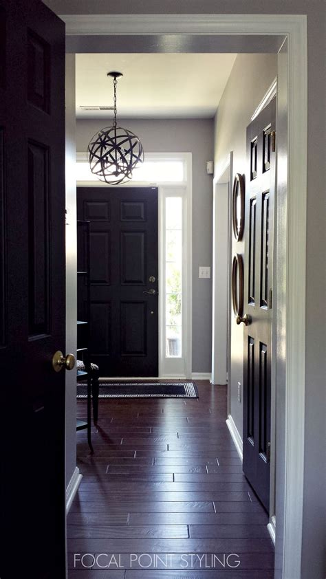 painting front door black focal point styling how to paint interior doors black